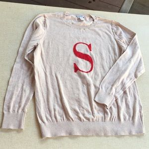 Old Navy XL Crewneck Sweater S Monogram Cotton